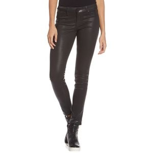 Level 99 Forever Black Liza Skinny Coated Jeans